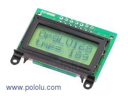 Pololu 356 - 8x2 Character LCD - Black Bezel (Parallel Interface