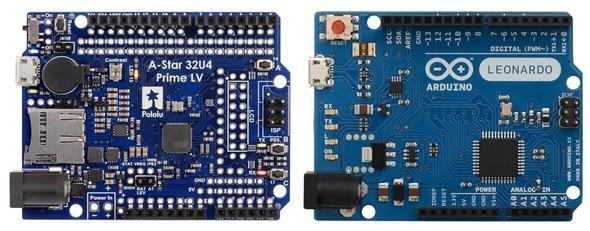 Porównanie płytek A-Star 32U4 Prime LV microSD i Arduino Leonardo