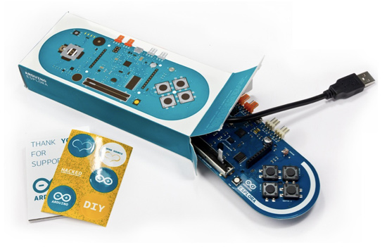 Widok zestawu Arduino Esplora