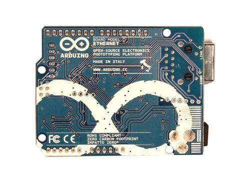 Arduino Ethernet - widok z dołu