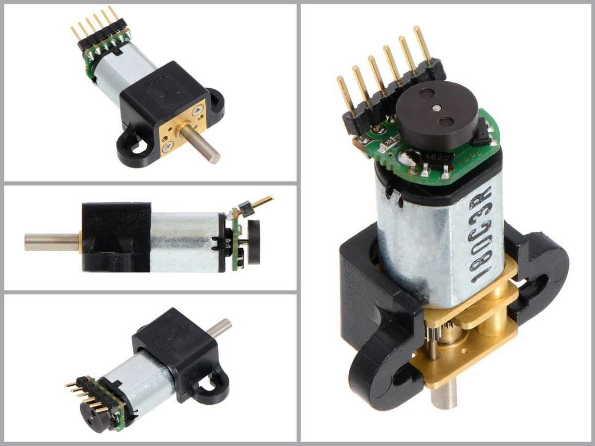 Magnetic Encoder Pair Kit For Micro Metal Gearmotors 12 Cpr 27 7 Pole Wiring Diagram Once The Board Is Soldered To Motor Disc Can Be Pushed Onto Shaft One Easy Way Accomplish This Press